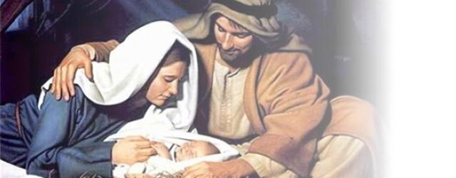 Con el Niño Dios en brazos